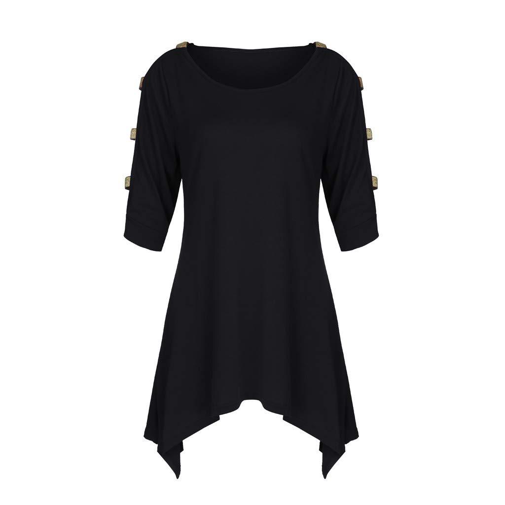 LRWEY Camisetas para Mujer, Moda para Mujer Tallas Grandes Sólido ...