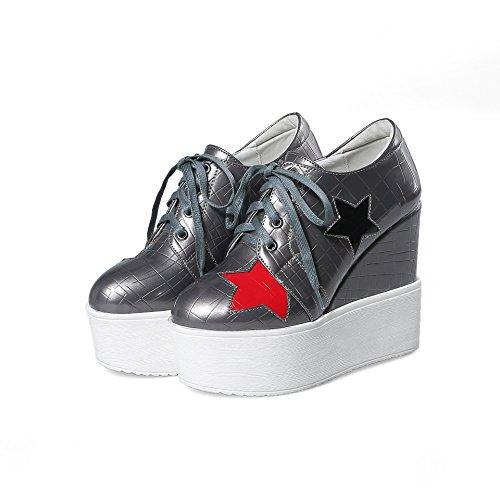 Plattform Schuhe Ferse amp;X QIN Fersen Frau 6Iwx4nqZ