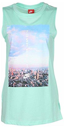 Womens Nike Cotton T-shirt Top (Nike Women's Sportswear Lifestyle Just Do It Tank Top T-Shirt Green 875622 381 (l))