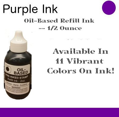 Spc Oil - OIL-BASED REFILL INK // 1/2 OUNCES // COLOR: Purple - Available In 11 Vibrant Colors Of Ink!