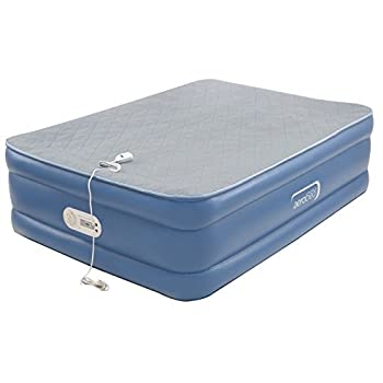 Image of Home and Kitchen AeroBed Air Mattress with Built in Pump | Air Bed with Quilted Foam Topper