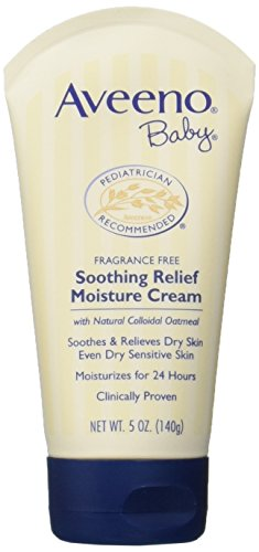 Aveeno Baby Soothing Relief Moisture Cream, 5Ounce Tubes (Pack of 6)