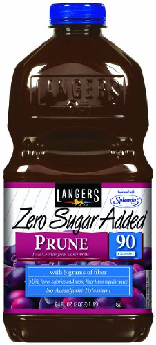 Langers Zero Sugar Added Prune Juice Cocktail 64 Ounce