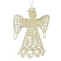 5.5 Cotton Crochet Angel Ornament
