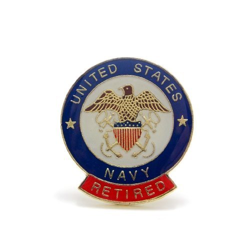 (United State Navy Retired Insignia Seal Lapel Hat Pin Military PPM582)
