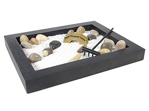 Garden Zen Collection (Eve's Zen Garden Kit Wooden Black Rectangular, Everything Needed to Create Your Own Zen Garden Wooden Black Rectangular, Relieve Stress and Relax!)