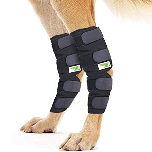 Rear Dog Leg Brace One Pair Heals Hock Joint Wrap Sleeve for Hind Legs(XL/Long)