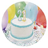 iPrint Funky Round Tablecloth [ 21st Birthday Decorations,Legal Age of USA 21 Party Cake with Colorful Balloons,White and Light Blue ] Fabric Home Tablecloth Ideas