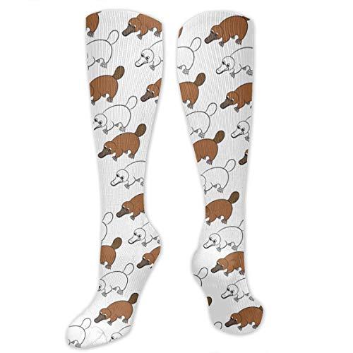 Socks Women & Men - Best For Medical,Nursing,Hiking,Travel & Flight Socks-Running & Fitness (Platypus Duckbill Pattern,23.6 Inches) -