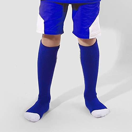 スポーツソックス 靴下 子供用スポーツソックス厚手のタオルボトムサッカーソックス膝上滑り止めストッキング (Color : Blue, Size : 4-6age)