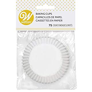 Wilton 415-2505 White Standard 75 Baking Cups, Single Pack