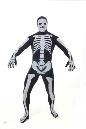 Morphsuits Men's Adult Costume, Skeleton, -