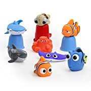 xdobo Nemo Bath Toy Squirt Disney Baby Dory Turtle Kids Water Play Toddler New set of 8