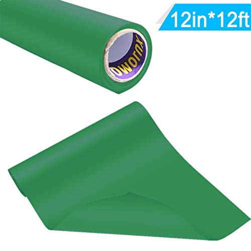 Iron-on HTV Vinyl 12inch x12feet Heat Transfer Vinyl Roll for Silhouette and Cricut by Somolux Easy to Cut & Weed Iron on Vinyl Heat Press, DIY Design for T-Shirts Green