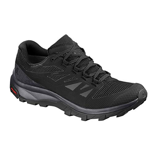 Salomon noir W Chaussures noir Randonnée Outline GTX gris Femme rxc0nrUP