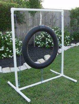 Dog Agility Equipment - Tire Jump, Weave Poles, Single Jump & Tunnel - Beginners Bundle / Package
