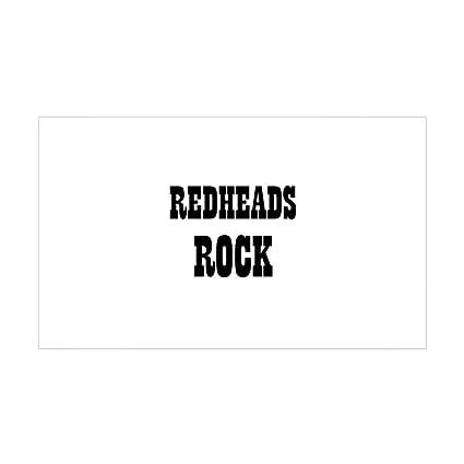 Cafepress redheads rock rectangle sticker rectangle bumper sticker car decal