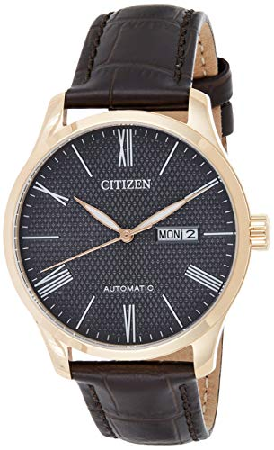 Citizen Men's NH8353-00H Gold Leather Automatic Dress Watch