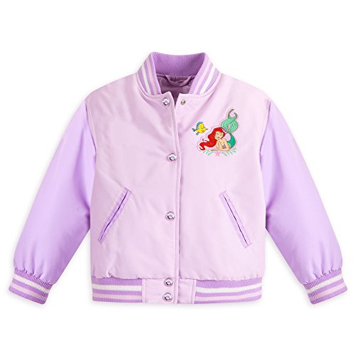 Disney Girls Ariel Varsity Jackets 5/6 (Disney Varsity Jacket)