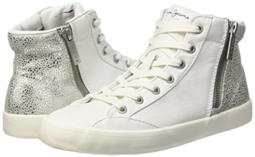 Collo Break Sneaker Clinton Donna Jeans Alto Pepe Bianco A 800white xXq64tw