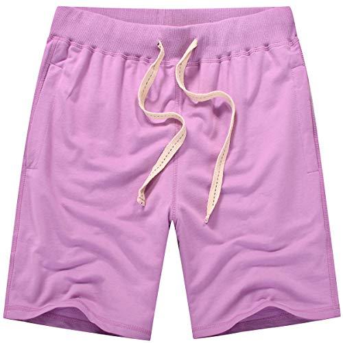 Amy Coulee Men's Casual Classic Cotton Short (S, Royal Purple) ()