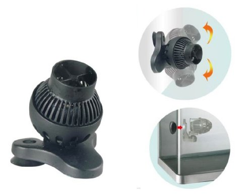 Magnetic Powerhead Holder (JEBO ZP3000 Wave Maker for Aquariums, 800 GPH)