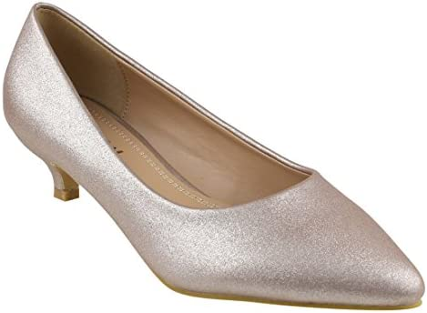 Beston JA03 Women's Chic Kitten Heel Basic Pumps Party Shoes