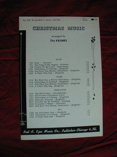 (From Heav'n Above (SATB) (Christmas Music Arranged by The Krones))