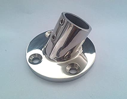 """Stainless Steel Boat Hand Rail Fitting 60 Degree Round Base for 1/"""" Tubing"""
