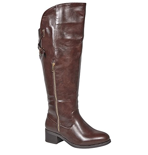Viale Da Donna Benson Criss Crossback Alto Boot Brown