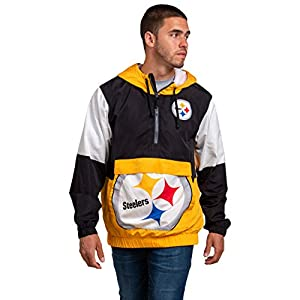 FOCO NFL mens Team Logo Warm-up Windbreaker