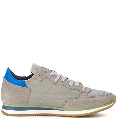 Suede Sneaker Grigio Philippe Tessuto E In Model Tropez wUAASzgpq