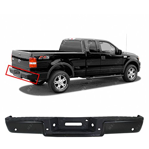MBI AUTO - Primered, Steel Complete Rear Bumper Assembly for 2004 2005 2006 Ford F150 Pickup W/Park 04-06, FO1103120 ()
