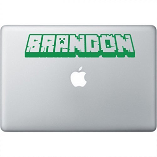 Custom Gamer Name Decal - 3D looking Laptop Vinyl Decal Sticker from Word Factory Design