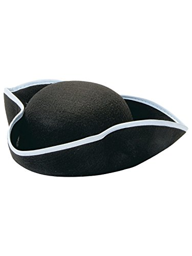 Napoleon Hat Costume (Rubie's Durashape Child Tricorn Hat, Black)