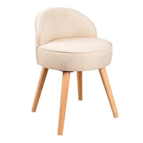 Amazon.com: Taburetes de maquillaje silla de madera maciza ...