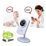 TKSTAR Wireless HD Home Security Camera Nanny Monitor Two-Way Audio Surveillance Camera Night Vision Motion Detection Alert Baby Monitor,Easy to Use Remote Monitor iOS, Android App