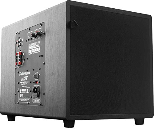 Earthquake Sound Supernova MKIV-12 Powered Subwoofer with SLAPS Technology, Black Ash by Earthquake Sound