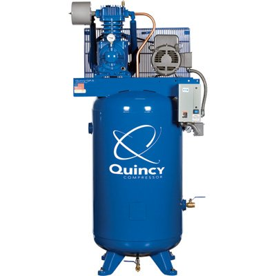 - Quincy QP-7.5 Pressure Lubricated Reciprocating Compressor - 7.5 HP, 230 Volt, 3 Phase, 80 Gallon Vertical, Model# 373DS80VCA23