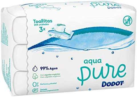 Dodot Aqua Pure - Toallitas, 3 paquetes, 144 toallitas: Amazon.es ...