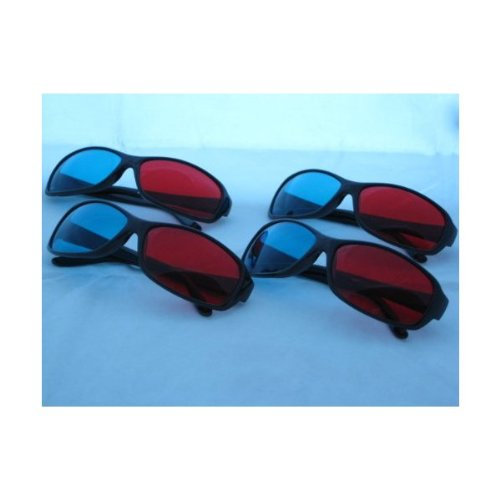 4 Pairs of 3d Glasses - Red/cyan Lenses ITEM#(S-BR) ()