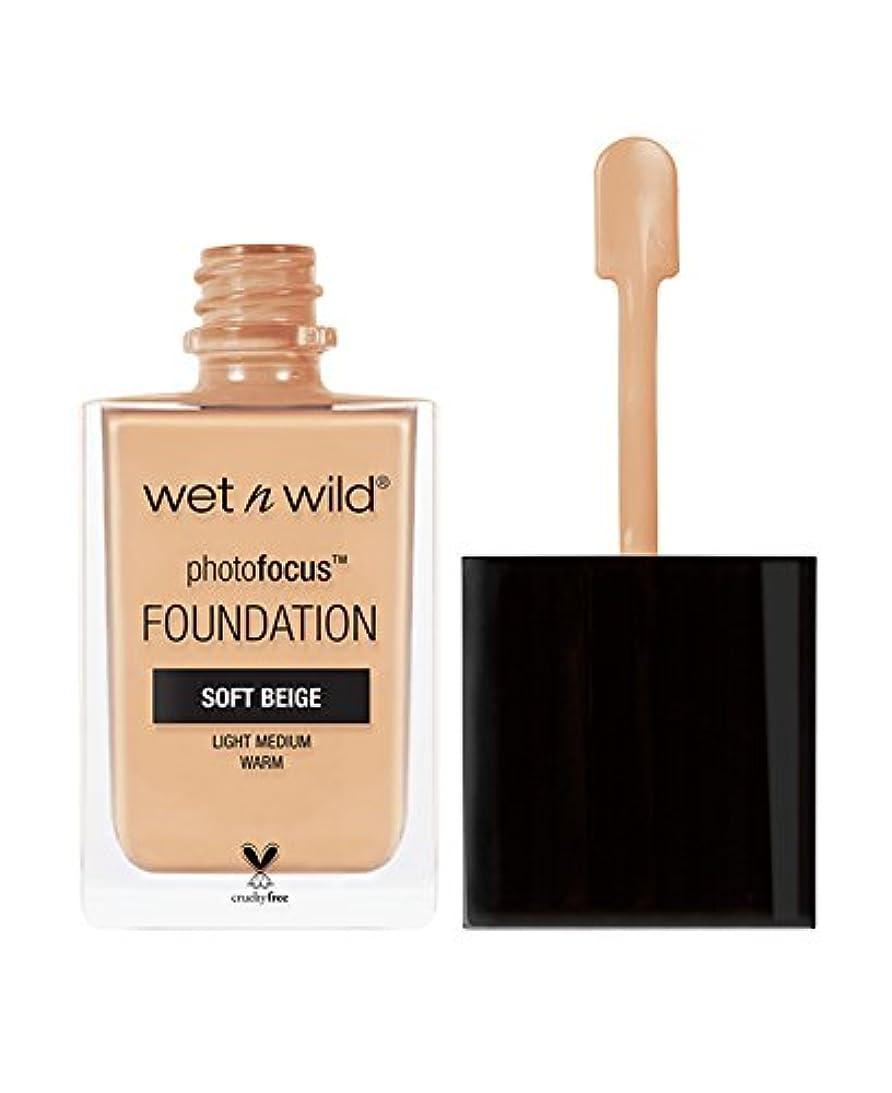 啓発する侵略染色WET N WILD Photo Focus Foundation - Soft Beige (並行輸入品)