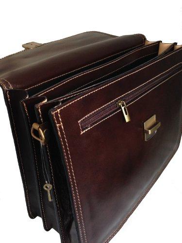 cc853812cd CTM Borsa Uomo Moro 24 ore porta documenti, 41x31x18cm, Vera Pelle 100%  Made in Italy: Amazon.it: Valigeria