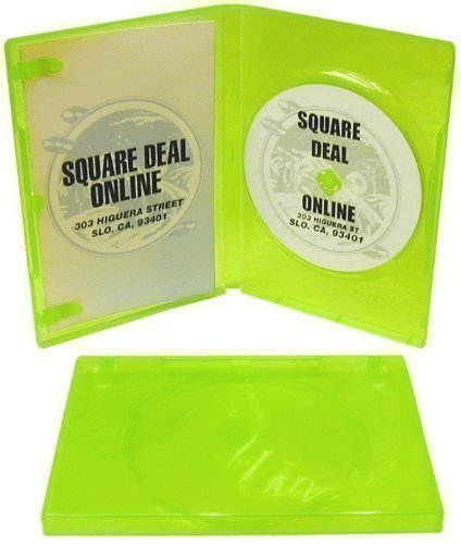 (10 Empty Standard XBOX 360 Translucent Green Replacement Games Boxes / Cases #VGBR14XBOX)
