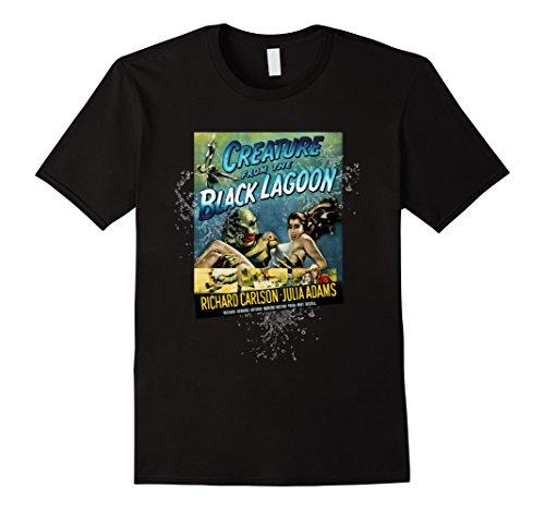Creature From Black Lagoon Mask (Mens Vintage Creature From the Black Lagoon Halloween T-Shirt Large Black)
