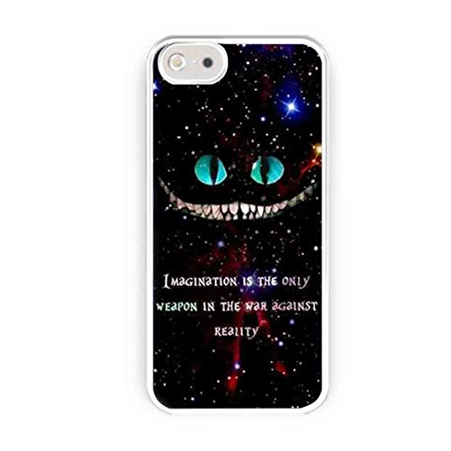 Cooliphone4Cases.com-2568-Alice In Wonderland Cheshire Cat Quotes iPhone 5s Case, iPhone 5 Case-B01LXXJO2T-T Shirt Design