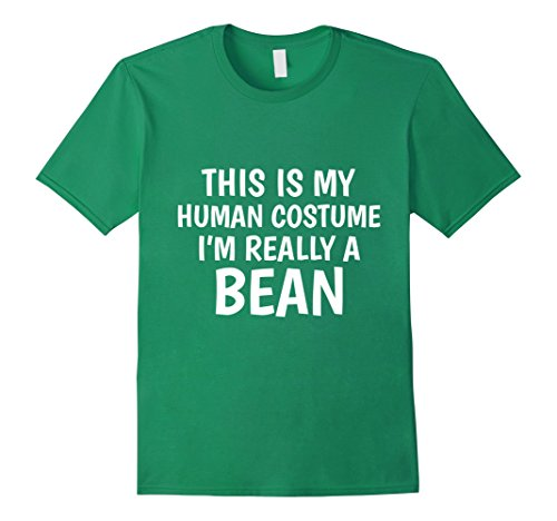 Green Bean Costumes (Mens This Is My Human Costume I'm Really A Bean T-Shirt 2XL Kelly Green)