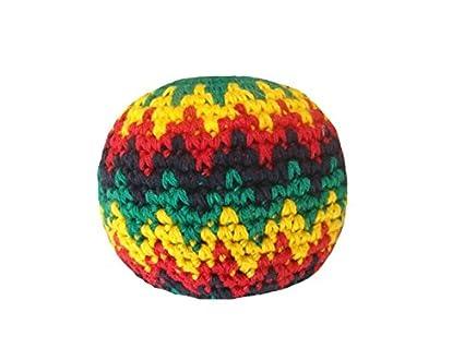 Amazoncom Guatemalart 221 Ra 3 Crochet Hacky Sacks Rasta Colors
