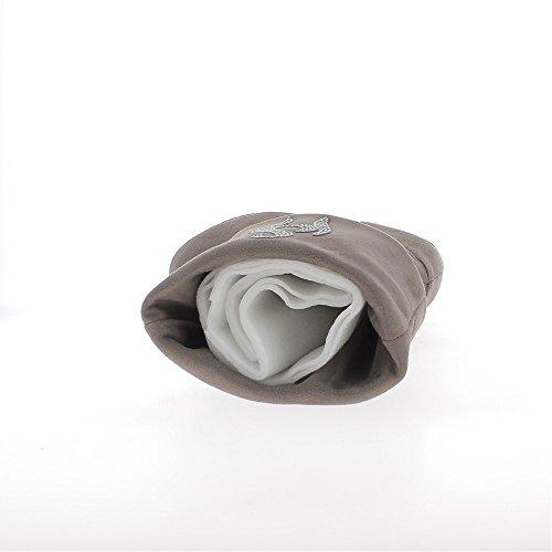 Bottes compensées à revers chaudes taupe à talon de 8cm avec strass
