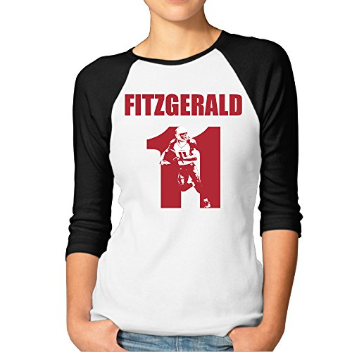 JXMD Women's Larry Fitzgerald ArizonaTeam T Shirt Black Size XL